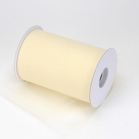 Ivory Premium Tulle 100 Yards ( W: 6 inch | L: 100 Yards ) -