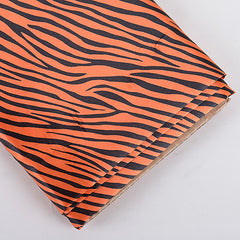 Animal Printed Satin Fabrics Orange ( W: 58 inch | L: 10 Yards )
