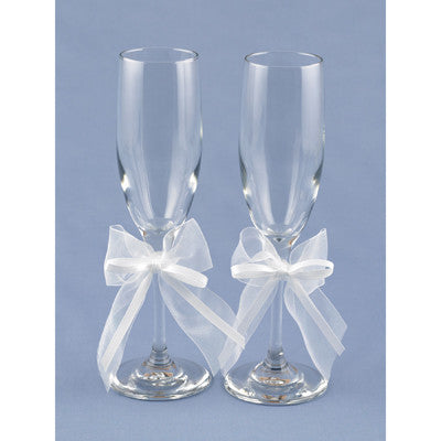 Wedding Toasting Flute Simply Sweet Flutes ( Set of 2 ) -