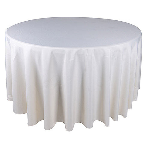 Ivory  90 Inch Round Tablecloths  ( W: 90 Inch | Round )- Ribbons Cheap