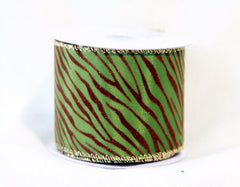 Animal Print Ribbon Spring Moss ( 2-1/2 Inch x 10 Yards )