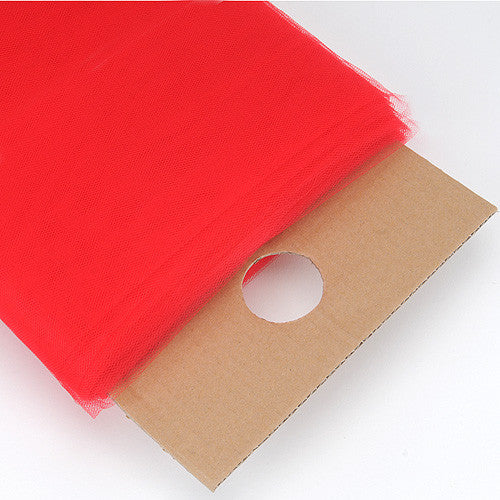 Red Premium Glimmer Tulle Fabric ( 54 inch | 40 Yards )