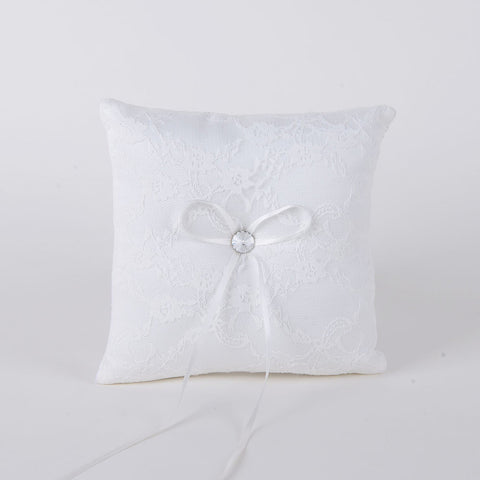 Ring Bearer Pillow Ivory ( 7 x 7 inches ) -