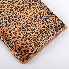 Animal Printed Satin Fabrics Cheetah ( W: 58 inch | L: 10 Yards )