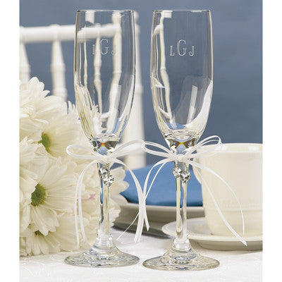 Wedding Toasting Flute Heart's Desire Flutes ( Set of 2 )
