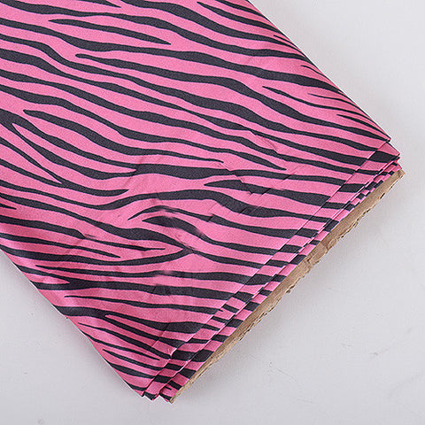 Animal Printed Satin Fabrics Hot Pink ( W: 58 inch | L: 10 Yards ) - Ribbons Cheap