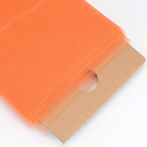 Orange 54 Inch Premium Tulle Fabric Bolt ( W: 54 inch | L: 40 Yards ) -