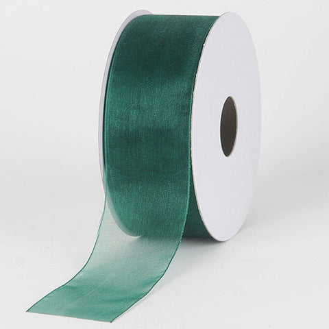 Sheer Organza Ribbon Hunter Green ( 2-1/2 inch | 25 Yards )