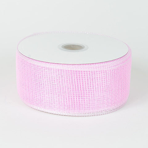 Floral Mesh Ribbon Pink ( 2-1/2 inch x 25 Yards ) -