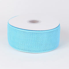 Floral Mesh Ribbon Light Blue ( 2-1/2 inch x 25 Yards )