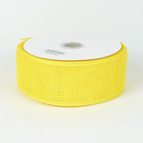 Floral Mesh Ribbon Yellow ( 2-1/2 inch x 25 Yards )