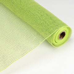 Laser Metallic Floral Deco Mesh Wrap Apple Green ( 21 Inch x 10 Yards )
