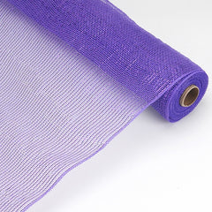 Laser Metallic Floral Deco Mesh Wrap Purple ( 21 Inch x 10 Yards )