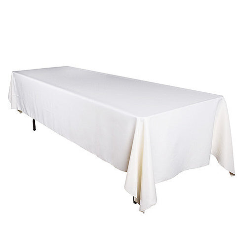 Ivory  90 x 156 Rectangle Tablecloths  ( 90 inch x 156 inch )