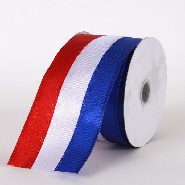Flag Design Ribbon Mixed Flag Ribbon ( 2-1/4 Inch x 25 Yards )