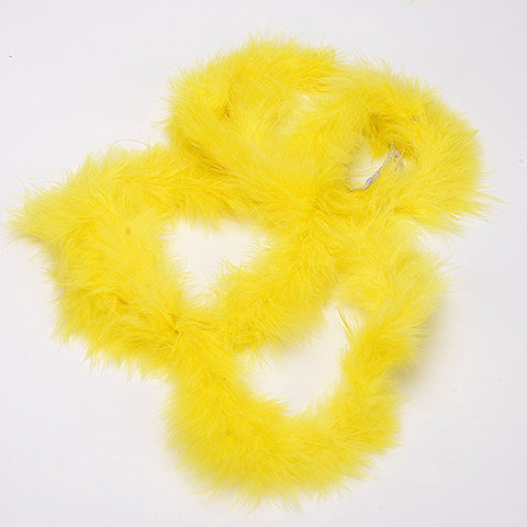 Mini Feather Decorations Yellow ( 2 Yards Boa )