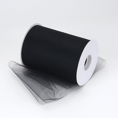 Black Premium Tulle 100 Yards ( W: 6 inch | L: 100 Yards )