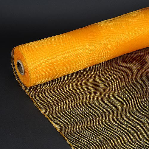 Floral Mesh Wrap Solid Color Light Gold ( 10 Inch x 10 Yards )