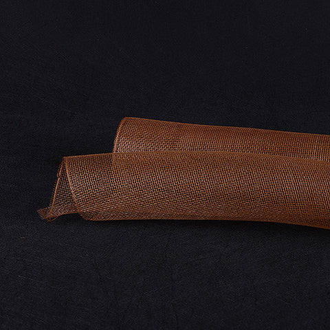 Floral Mesh Wrap Solid Color Milky Chocolate ( 10 Inch x 10 Yards ) -