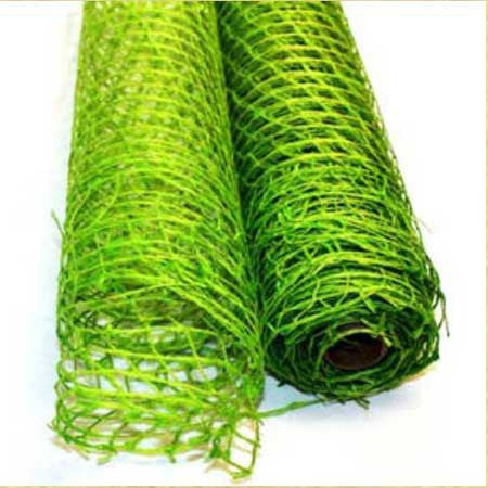 Natural Jute Mesh Apple Green ( 21 Inch x 6 Yards )