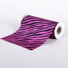 Animal Printed Satin Spool Fuchsia ( W: 6 inch | L: 10 Yards )