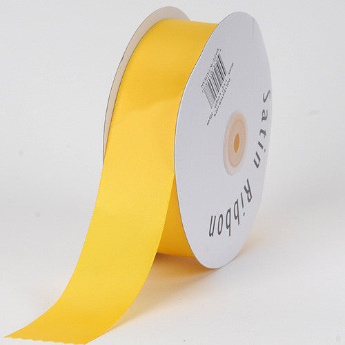 Satin Ribbon Single Face Daffodil ( 1/8 inch | 100 Yards )