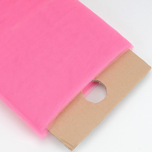 Shocking PinkPremium Glimmer Tulle Fabric  ( W: 6 inch | L: 25 Yards )