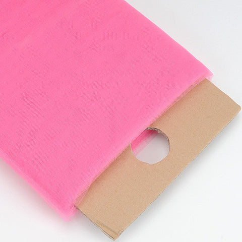 Shocking PinkPremium Glimmer Tulle Fabric  ( W: 6 inch | L: 25 Yards ) -