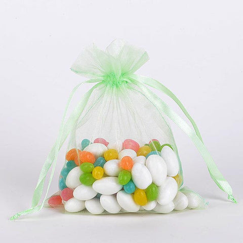 Organza Bags Mint ( 3x4 Inch - 10 Bags ) -