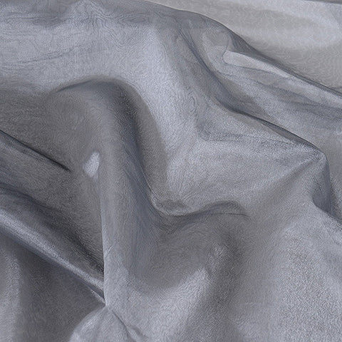 Two Tone Organza Overlays Silver Black ( W: 28 inch | L: 108 Inches )- Ribbons Cheap