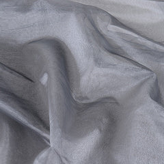 Two Tone Organza Overlays Silver Black ( W: 28 inch | L: 108 Inches )