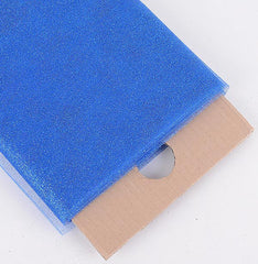 Royal Blue Premium Glitter Tulle Fabric ( W: 6 inch | L: 25 Yards )