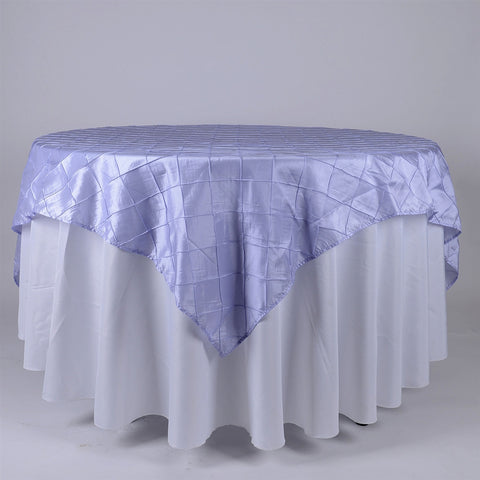 Lavender  85 inch x 85 inch Square Pintuck Satin Overlay