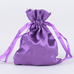 Satin Bags Purple ( 3x4 Inch - 10 Bags )