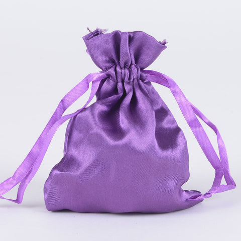 Satin Bags Purple ( 4.5x5.5 Inch - 10 Bags ) -
