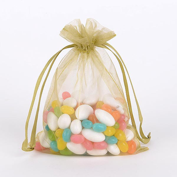 Organza Bags Old Willow ( 3x4 Inch - 10 Bags )