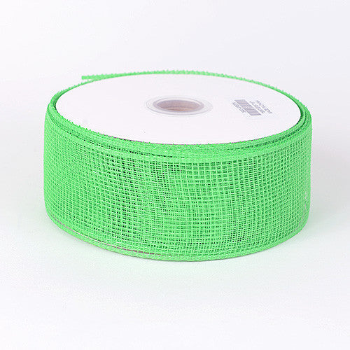 Floral Mesh Ribbon Green ( 4 Inch x 25 Yards )