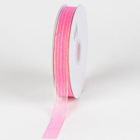 Corsage Ribbon Hot Pink ( W: 3/8 inch | L: 50 Yards ) -
