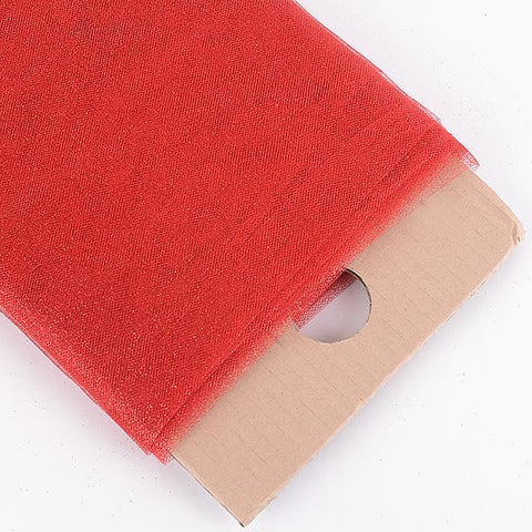 Red Premium Glitter Tulle Fabric ( W: 6 inch | L: 25 Yards )