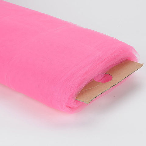 108 Inch Premium Tulle Fabric Bolt Shocking Pink ( W: 108 inch | L: 50 Yards ) - Ribbons Cheap