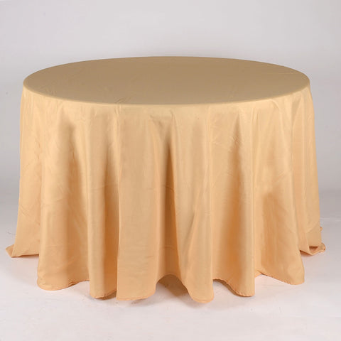 Gold 90 Inch Round Tablecloths  ( W: 90 Inch | Round )