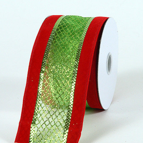 Christmas Ribbon Red Green ( 2-1/2 Inch x 10 Yards ) -
