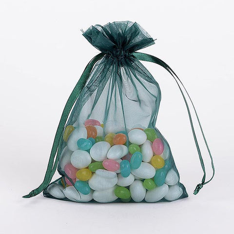 Organza Bags Hunter Green ( 3x4 Inch - 10 Bags ) -