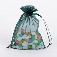 Organza Bags Hunter Green ( 3x4 Inch - 10 Bags )