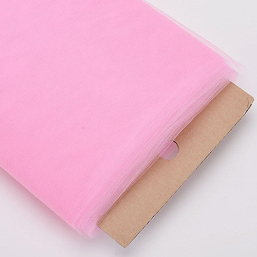 54 Inch Premium Tulle Fabric Bolt Paris Pink ( W: 54 inch | L: 40 Yards )