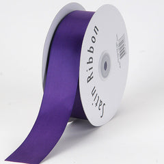 Satin Ribbon Single Face Purple ( 1/8 inch | 100 Yards )