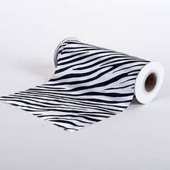 Animal Printed Satin Spool White ( W: 6 inch | L: 10 Yards )