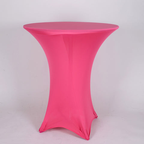 Fuchsia Spandex Cocktail Tablecloths