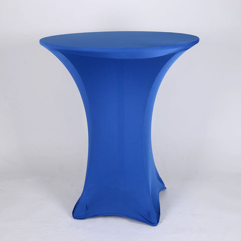 Royal Blue Spandex Cocktail Tablecloths- Ribbons Cheap