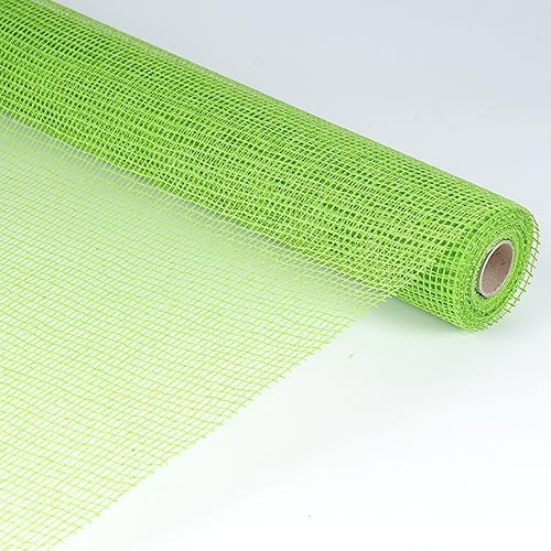 Natural Cotton Jute Apple Green ( 21 Inch x 6 Yards )